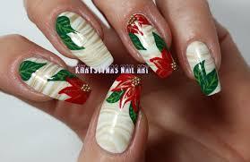 water marble freehand christmas nail art khrystynas nail art