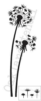 dandelion wood plaques wall dandelion stencil dandelions and seeds 10 x24 for painting
