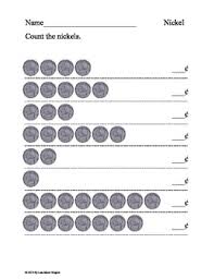 counting coins pennies nickels and dimes worksheets by lisa marie