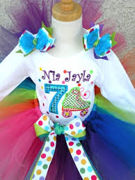 personalized rainbow roller skates skating number age for girls