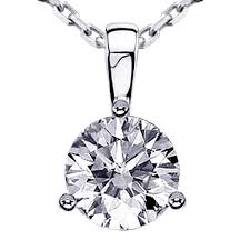 stone setting gold necklace images Vip jewelry art 1 25 ct brilliant cut diamond pendant in 14k jpg
