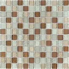 kitchen backsplash at lowes shop elida ceramica spring uniform squares mosaic glass wall tile