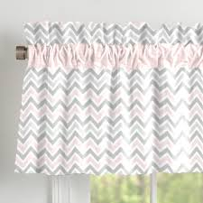 Curtain Valance Rod Pink And Gray Elephants Window Valance Rod Pocket Carousel Designs