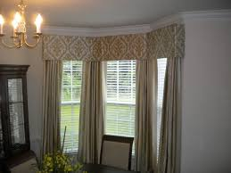 window treatments for bay windows cornice board in bay window with matching panels