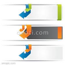 3 creative concept arrow website banner advertising background