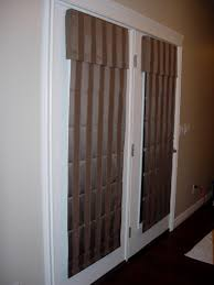Blackout Cordless Roman Shade Interior Brown Striped Roman Shades For White French Doors