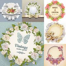 wedding floral frame with butterfly bow rose and frame decorated
