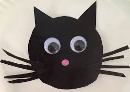 cat halloween picture make a black cat from a paper plate heckerty u0027s halloween hacks
