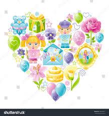 1st Birthday Invitation Card For Baby Boy Child Icon Set Baby Shower Invitation Stock Vector 440523031