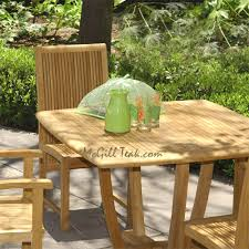 Teak Patio Furniture by Patio Table Set For Four Tigris Round Dining Table U0026 Liberty