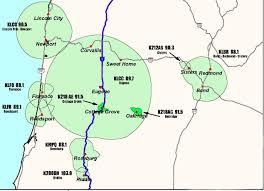 Roseburg Oregon Map Klcc Stations U0026 Translators Klcc