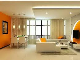 fancy green and orange living room for interior decor home with