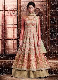 anarkali wedding dress buy this gajri silk wedding wear embroidered work anarkali suit