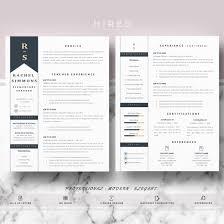 Teaching Resume Template Resume Template Archives Hired Design Studio
