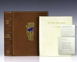 Winnie The Pooh Writing Paper Winnie The Pooh A A Milne Signed Limited Japanese Vellum