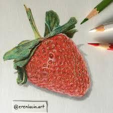 drawn strawberry color pencil pencil and in color drawn