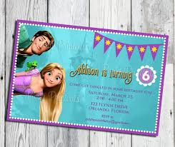 rapunzel tangled invitation printable for tangled themed