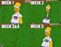 Homer Simpson Meme - it their defense jets fans are currently in their giants fan