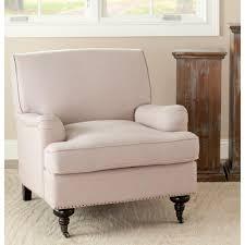 linen club chair safavieh randy taupe linen slipper chair mcr4584a the home depot