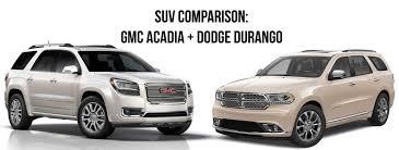 compare dodge durango suv comparison dodge durango gmc acadia