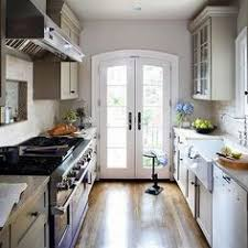 galley kitchen with a door to a patio is the best kitchen