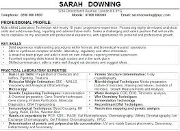Researcher Resume Sample by Science Resume Examples Resume Example