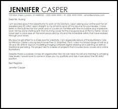 3d artist cover letter 3d artist cover letter sample livecareer