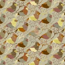 red riding bird neutral jessica swift wallpaper tiles