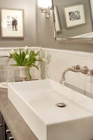 papyrus home design chic bathroom with warm gray paint color
