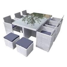 chaise en r sine tress e table de jardin en r sine tress e 7 avec salon nando noir teckandco