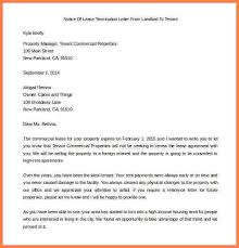 termination letter for tenant from landlord tenants notice to
