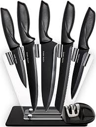 kitchen knives amazon amazon com kitchen knives knife set with stand plus