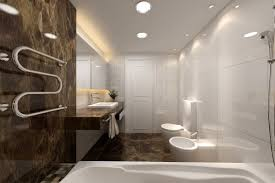 modern marble bathroom designs dark brown floating vanity curve