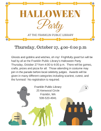 franklin matters halloween party at library october 27