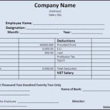 salary receipt template qualified salary slip or receipt template sample for your office