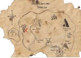 Treasure Island Map Free Treasure Map Stock Photo Freeimages Com