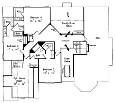Attic Floor Plans by European Style House Plan 5 Beds 4 50 Baths 3618 Sq Ft Plan 927 27