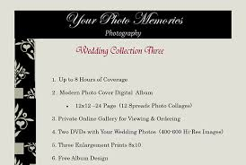 wedding photography packages competitive prices custom wedding packages your photo memories