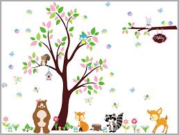 Rainforest Wall Stickers Woodland Nursery Decal Forest Wall Decals Nursery Nursery Wall