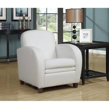 White Leather Accent Chair I8037 38 39 Leather Look Accent Chair Multiple Colors By Monarch