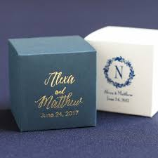 Blue Favor Boxes by Personalized Favor Box Personalized Cube Favor Box Personalized