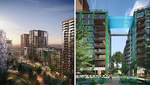london glass building a glass bottomed swimming pool will bridge two buildings in london