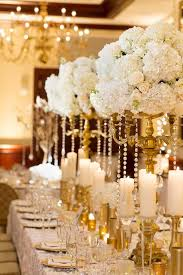 candelabra centerpieces gold candelabra centerpiece with white roses