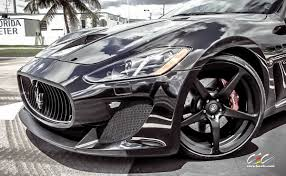 black maserati sports car maserati granturismo mc stradale