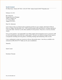 ideas collection simple cover letter sample for job application