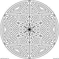 8 images of geometric printable coloring pages coloring page
