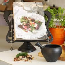 bexsimon cast iron cook book stand black amazon co uk kitchen