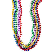 mardi gras beaded necklaces buy 12 dice beaded necklaces assorted colors approx 33 quot