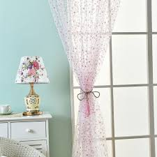 Scarf Curtains Polyester Print Sheer Tulle Curtain Pastoral Style Windows
