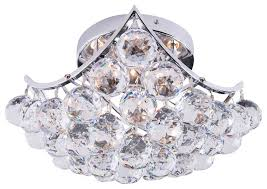 Crystal Flush Mount Ceiling Light Fixture by 4 Light Crystal Ball Flush Mount Chrome Contemporary Ceiling